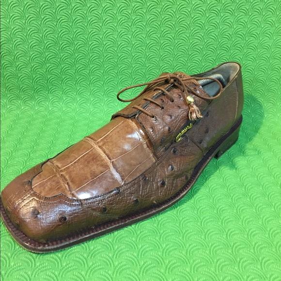 Mauri Other - MAURI Genuine Alligator Dress men shoe 13M Brown